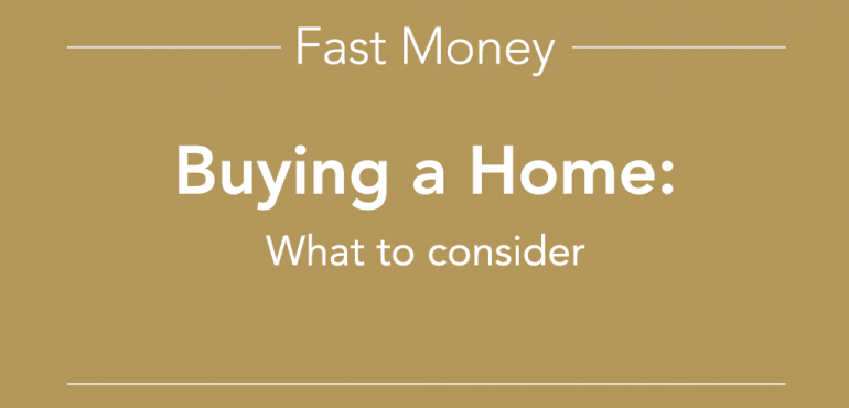 Buying a home